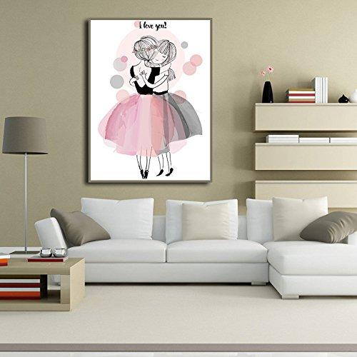 Amphia – Ich Liebe Dich rahmenlose Leinwandmalerei.Ungerahmtes modernes Kunst-Ölgemälde-Druck Segeltuch-Bild-Hauptwand-Raum-Dekoration