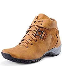 Lizaa Ldp Men's Synthetic Leather Party Wear Casual Boots Laced -Up Comfortable Wear Shoes 1008 Brown Casual Shoes...