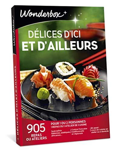 Wonderbox - Coffret Cadeau couple - DÉLICES D'ICI ET D'AILLEURS - 905 repas ou...