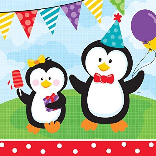 18Zählen Lunch-Servietten, Pinguin Party ()