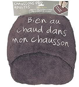 Maxi Chausson Duo Adulte - Coloris Taupe