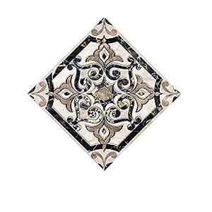 VNEIRW 10 Stück Stickerfliesen 10×10cm Grau,Vintage Motiv Marokkanisch Fliesenfolie Fliesenaufkleber DIY Mosaik-Wandaufkleber für Küche Bad Boden und Wand (F)