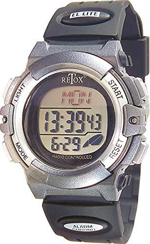 "Retox"" Funk LCD Armbanduhr mit Alarm, Stoppuhr + Datumanzeige, 3ATM"