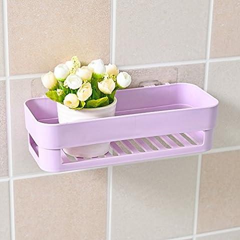 Nahtloser Aufbewahrungskorb / Starker Kleber Frei Nagelständer / Badezimmer Badezimmer Paste