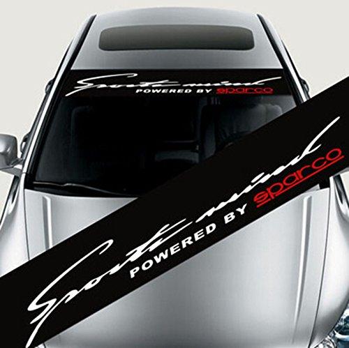 Stickers de décoration réfléchissante colorée autocollants de voiture style autocollant avant autocollant de pare-brise