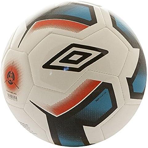 Umbro Neo Futsal Liga - Balón futbol sala, color blanco / negro / bluebird / grenadine, talla 4