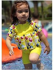 Vine Maillot de Bain Bouée Gilet de Sauvetage Flotteur Combinaison Flottante pour Bébé Fille Garçon, 2-5 ans