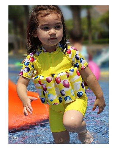 Vine Kinder Bojen-Badeanzug Bademode mit Schwimmflügel und Schwimmen Kappe Schwimmen Trainer, 2-5 Jahre alt