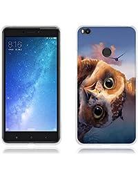 """Funda Carcasa para Xiaomi Mi Max 2, Gel de Silicona TPU, FUBAODA , Lindo Búho, Resistente a Golpes, Antipolvo, Resiste a los Arañazos, Carcasa Protectora de Goma de Calidad Superior para Xiaomi Mi Max 2 (6.44"""")"""