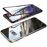 Jonwelsy Kompatibel für Samsung Galaxy S8 (5,8 Zoll) Hülle, 360 Grad Vorne und Hinten Gehärtetes Glas Transparente Case Cover, Stark Magnetische Adsorption Metallrahmen Handyhülle