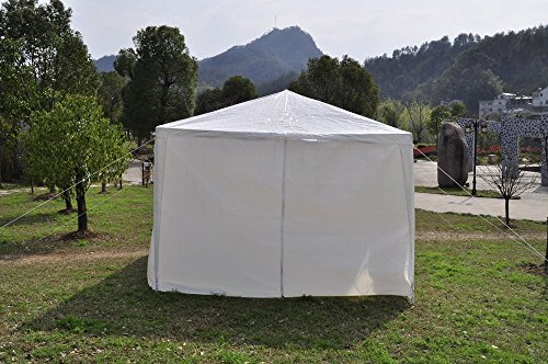 Qisan Canopy Tent Carport Gazebos Party Tent 10 X 20-feet Domain Carport with Sidewalls, (White) 2