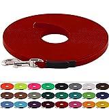 LENNIE BioThane Schleppleine 9 mm breit, 25 Farben/Rot, 1-30 Meter / 7 m, genäht