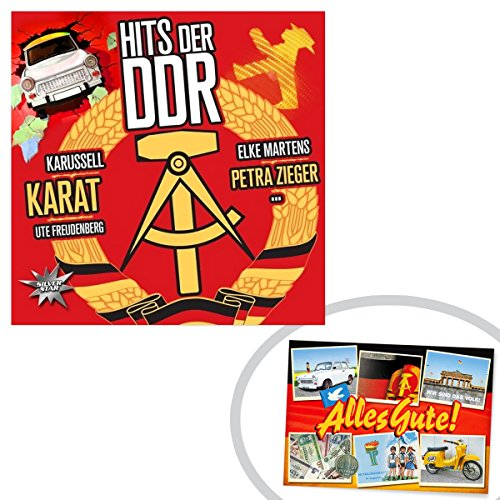 CD Hits der DDR ++ DAS Ostprodukte Geschenk – DDR Traditionsprodukt und Ossi Kultprodukt – Geschenkidee für alle Ostalgiker aus Ostdeutschland vom Ostprodukte Experten – Ostpaket mit DDR Klassiker – Ideal für jedes DDR Geschenkset ++ GRATIS: Zu jeder Lieferung erhalten Sie immer genau die hier angezeigte DDR Geschenkkarte (copyright Ostprodukte-Versand) !! ++