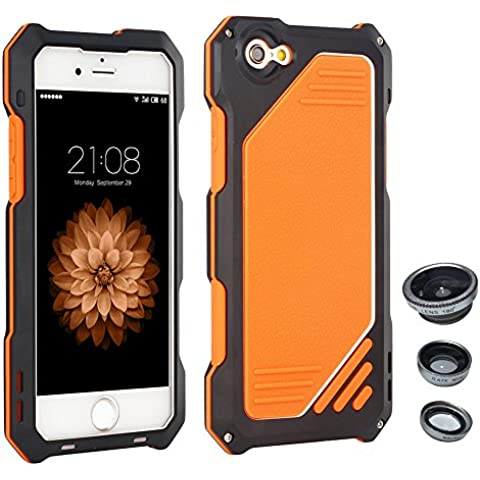 Skitic Antiurto Custodia Cover per iPhone 6 Plus / 6s Plus, 3 in 1 Camera (Foto Nero Doppio Mat)