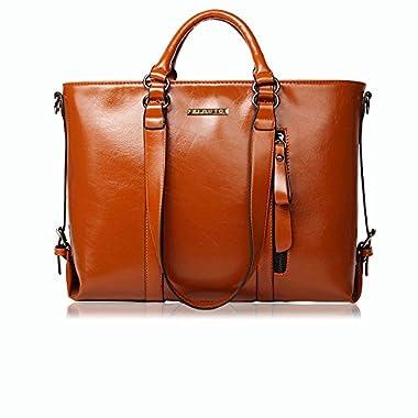 Plouto Ladies Handbags, Women handbag PU Leather Shoulder Bags for Women, Designer Handbags Large Tote Bags Black/Brown