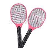 Paquet de 2 Mini-Mouches électriques, Raquette pour Batterie Zapper, moustiquaires électriques Anti-moustiques sans Danger au Toucher (n'inclus Pas 2 Piles AA),Pink