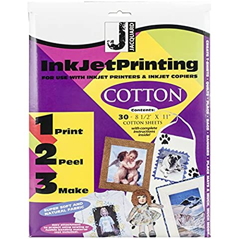 Jacquard Products Ink Jet Fabric Sheets, 8.5 x 11 inch