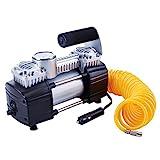 TIREWELL 12V Gonfiatore–Heavy Duty double bombole Direct Drive metal pompa 150PSI compressore d' aria, con batteria morsetto e 5m di prolunga tubo dell' aria, SUV/camion/Vans/RVS