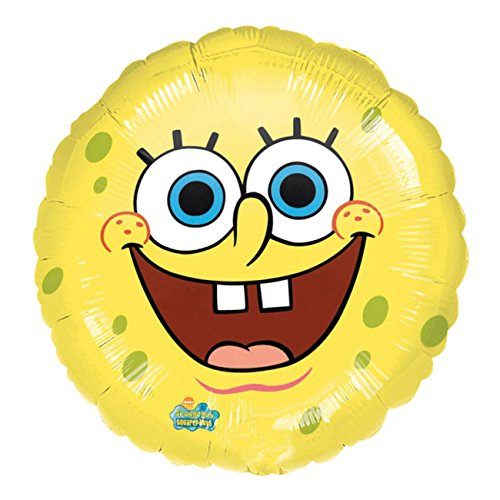 amscan 09488 01 Spongebob Schwammkopf Folienballon Lächelnder Sponge Bob