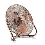Brandson - Retro Windmaschine / Ventilator | Standventilator 35cm | hoher Luftdurchsatz | sehr leises Betriebsgeräusch | Tischventilator / Bodenventilator | im edlen Kupfer-Design