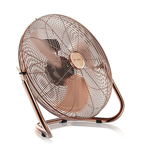 Retro Windmaschine / Ventilator | Standventilator 30cm | hoher Luftdurchsatz | Tischventilator / Bodenventilator | im edlen Kupfer-Design