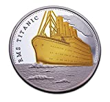 Jubiläum 100Jahre Titanic vergoldet Münze GEDENKMÜNZE & zum Sammeln Geschenk