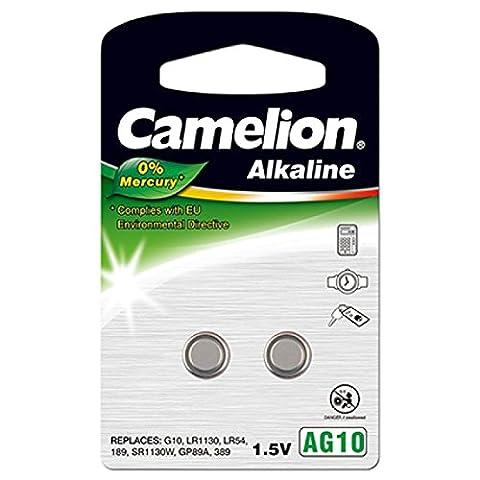Camelion Knopfzelle AG10 2er Blister, Alkaline, 1,5V