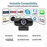Webcam HD 1080P Webcams 30fps USB 2.0 Web Digital Camera with Microphone Clip-on Camera WebCam for PC Laptop Desktop for MAC for Windows