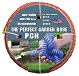 """Tuff-Guard The Perfect Garden Hose, Kink Proof Garden Hose Assembly, Red, 5/8"""" Male"""