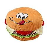 Mystery&Melody Plüsch Cheeseburger Kissen Flauschige gefüllte Hamburger Kissen weiche Burger Essen Plüsch Spielzeug