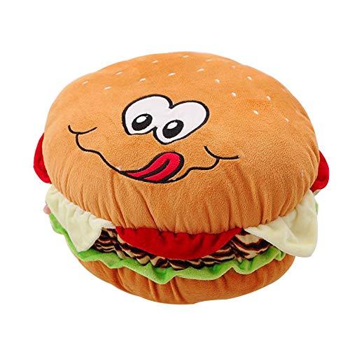 Waschmaschine Kostüm Trockner Und - Mystery&Melody Plüsch Cheeseburger Kissen Flauschige gefüllte Hamburger Kissen weiche Burger Essen Plüsch Spielzeug