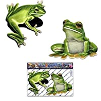 JAS Stickers® Green Frog Animal Car Stickers - 2 x Small Vinyl Decal Pack For Laptop Luggage Bicycle Bike Caravans Van Camper Trucks & Boats - ST00058_SML