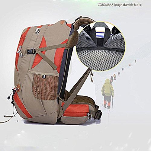 Outdoor-Klettern Tasche Rucksack-Reitsport-Multifunktions-Schultertasche Camping Wanderrucksack mit Halterung Khaki