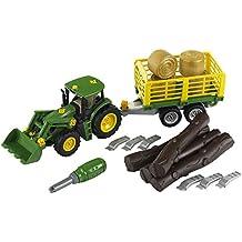 John Deere - Tractor con remolque para leña y heno (Theo Klein 3906)