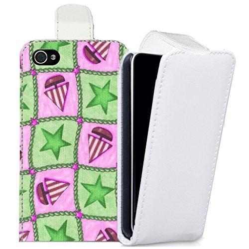 lotties-flip-cover-case-custodia-pelle-iphone-4s-green-caboodle