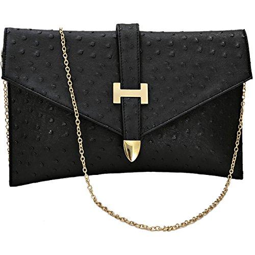 Designer femmes élégant faux cuir enveloppe sac à main d'embrayage