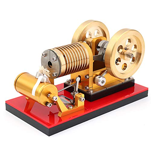 TETAKE Stirlingmotor Modell Bausatz 2019 Messing Saug Feuerart Sterling Motoren Stirling Engine Kit Dampfmaschine Spielzeug Pädagogisch für Kinder Erwachsener