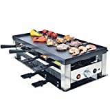 Solis Grill 5 in 1, Raclette/ Tischgrill/ Wok/ Crêpes/Pizza, 8 Personen, Edelstahl, Table Grill 5 in 1, Typ 790