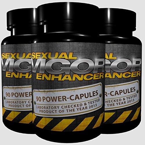 3x Vigor - Sexual Enhancer (270 Kapseln) - längere und härtere Erektion, Erektionsmittel, Potenzmittel für Männer