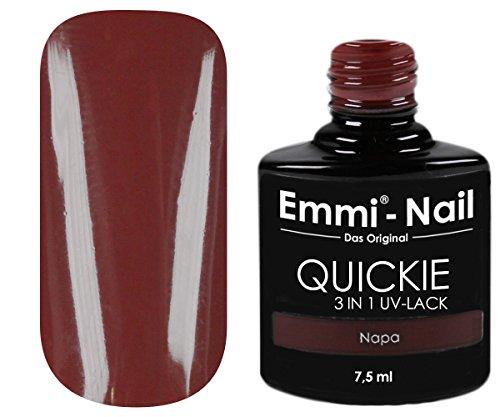 Emmi-Nail UV-Nagellack in glänzendem Dunkelrot, ohne Schwitzschicht, kein Unter- und Überlack...