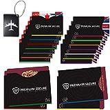 19 Pack 14 Kreditkarteninhaber und 4 Reisepass-Protektoren 1 Kofferanhänger RFID Blocking NFC Schutzhüllen für Kreditkarte, Personalausweis, EC-Karte, Reisepass, Bankkarte, Ausweis
