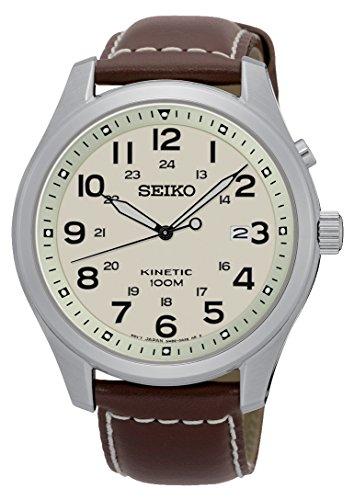 Seiko Reloj Analógico de Cuarzo para Hombre con Correa de Cuero – SKA723P1