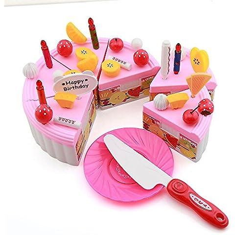 Owfeel frutas tarta de cumpleaños fiesta decoración juguete Playset