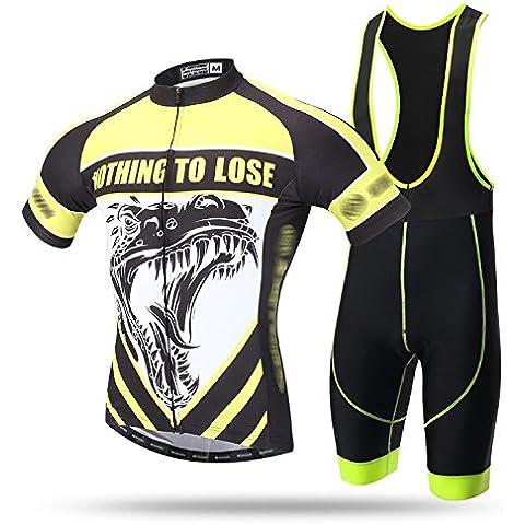 TeyxoCo New Uomini Ciclismo Sportivo Padded Bid Jersey Set S