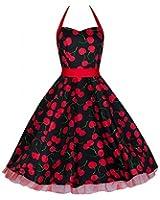 Pretty Kitty Schwarz rote Kirsche Kleid