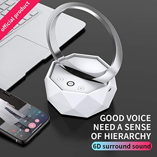 Webla Bluetooth Mini LED drahtlose Nachttischlampe Bunter LED Aufhebungnachtlichtlautsprecher, PC Lippenstift-video-kameras