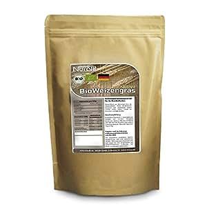 Nurafit BIO Weizengras Pulver | in Deutschland angebaut | 1000g / 1kg zertifizierte Spitzenqualität | reich an Vitaminen, Mineralstoffen und Spurenelementen