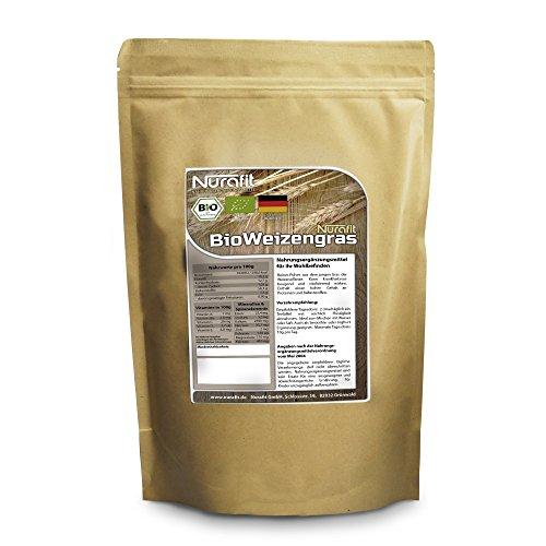 Nurafit BIO Weizengraspulver | made in Germany | 250g / 0.25kg zertifizierte Spitzenqualität | für leckere Diät Shake mit vielen Vitaminen, Mineralstoffen und Spurenelementen