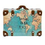 Saving To Go Map Places Suitcase Money Bank