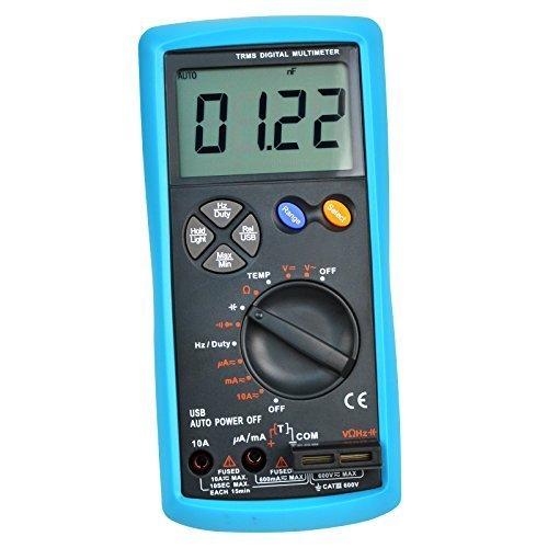 USB-Schnittstelle Multimeter -Prüfvorrichtung-Test True RMS AC / DC-Strom Spannung Widerstand Kapazitätsdiode Temperatur Kapazität Meter (Rms-dc-spannung)